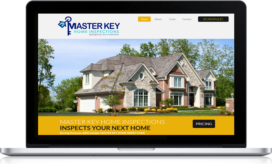 Master Key Inspections local Website design Pegasus Ventures Michigan