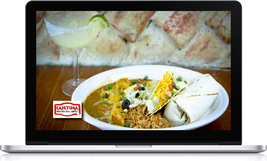 Cantina Mexican Grill locally designed websites by Pegasus Ventures