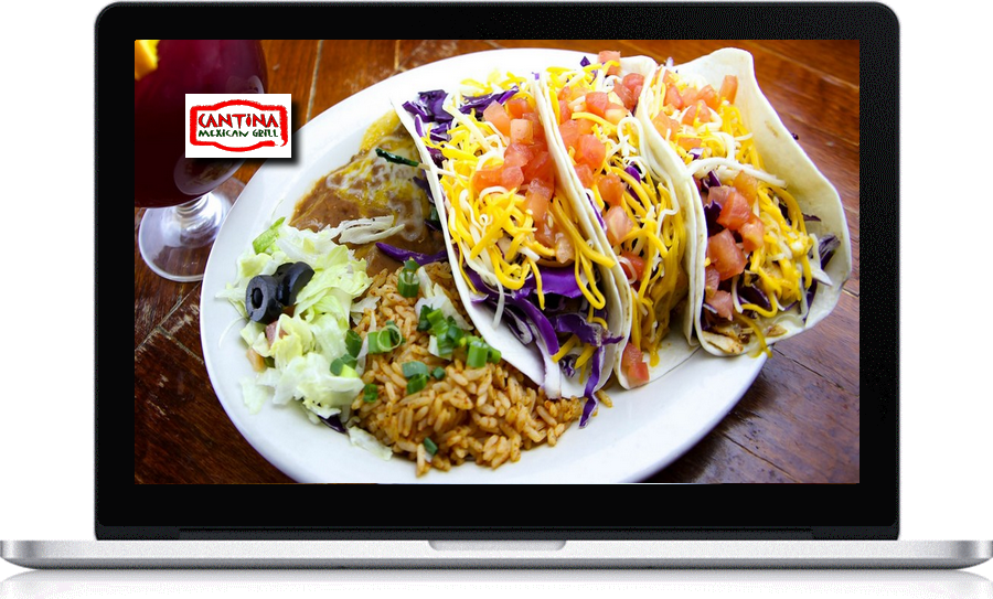 Cantina Mexican Grill website by Pegasus Ventures local web designer