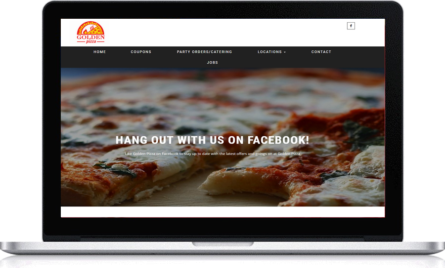 Golden Pizza l locally designed websites by Pegasus Ventures