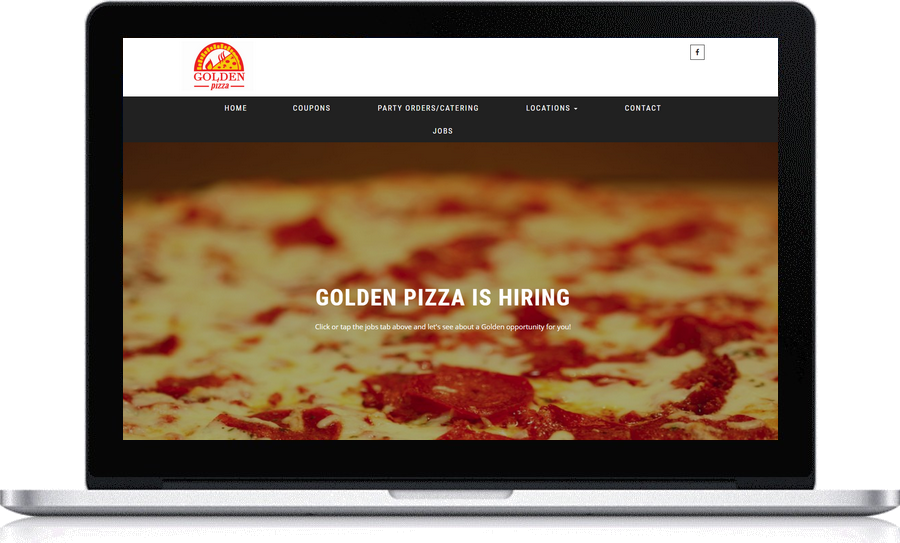 Small business website development Pegaus Ventures Michigan employed by Golden Pizza l
