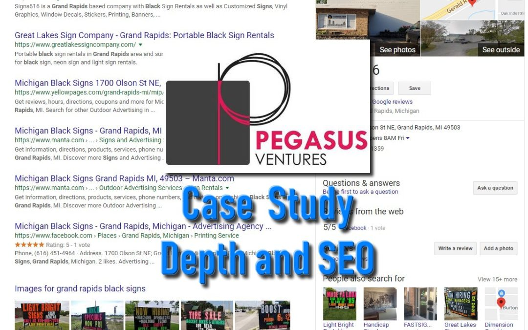 Case Study- Depth in SEO Light Bright Signs