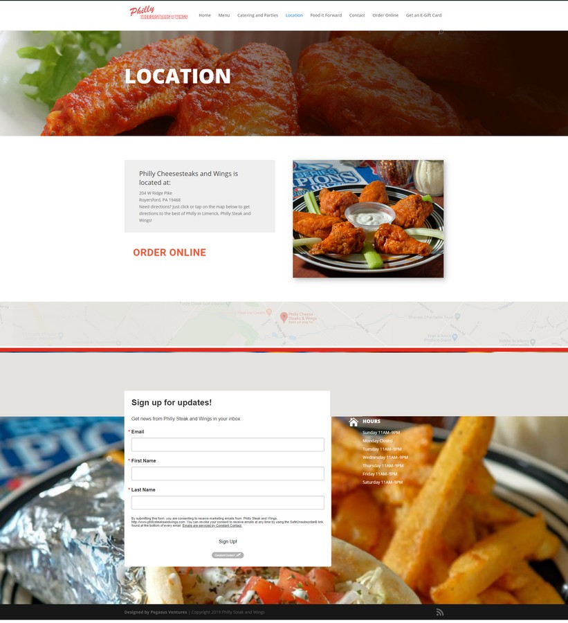 Grand Rapids web developer for restaurants like Philly Cheesesteak and Wings